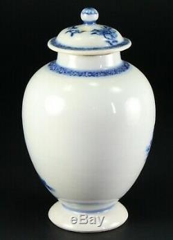 1735-1796 QIANLONG Qing Chinese Fine Porcelain Tea Caddy Blue & White