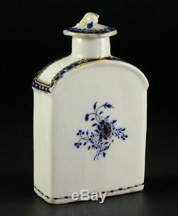 1735-1796 QIANLONG Qing Chinese Fine Porcelain Tea Caddy Blue & White, Gold