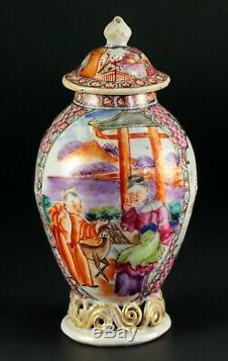 1735-1796 QIANLONG Qing Chinese Fine Porcelain Tea Caddy Famille Rose 5.6