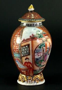 1735-1796 QIANLONG Qing Chinese Fine Porcelain Tea Caddy MANDARIN WARE