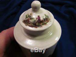 18th C Soft Paste Porcelain English Tea Caddy Enamel Rural Figural Scene