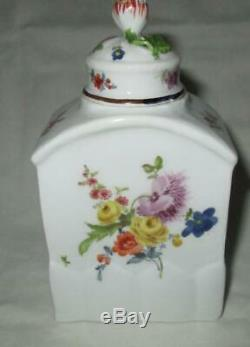18th Century MEISSEN German Porcelain Tea Caddy