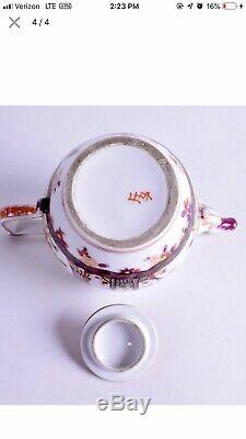 18th Century Meissen Porcelain Chinoiserie Tea Pot Extremely Rare Mark