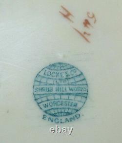 19th C. ANTIQUE LOCKE & CO. WORCESTER PORCELAIN IVORY BLUSH TEA CADDY, c. 1900