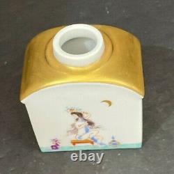 19th Century Meissen Porcelain Tea Caddy 2.5x 1.5x 3