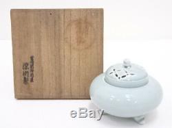 4714050 Vintage Japanese Porcelain Arita Ware Old Fukagawa Celadon Incense Burn