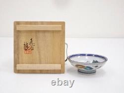 4761238 Japanese Porcelain Kutani Ware Sake Cup / Mountain & Stream By Shinya M