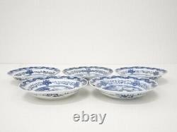 4853346 Antique Japanese Imari / Edo Era Plate Set Od 5/ Blue & White Porcelain
