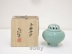 4989538 Japanese Porcelain Celadon Incense Burner