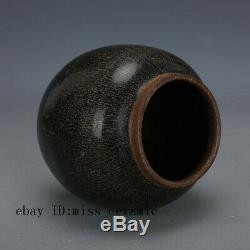 5 Song Dynasty fujian kiln China antique Porcelain cover tea caddy jar pot