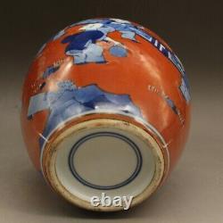 6.7 Collect China Jingdezhen Red Glaze Porcelain Bule Children Tu Tea-Caddy Pot