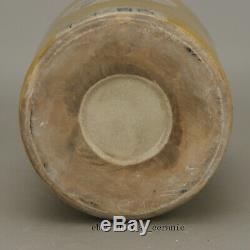 8 Republican China antique porcelain yellow glaze Fuyuan Chang Tea Caddy pot