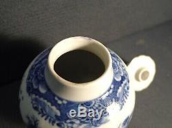 A good 18th. Century Chinese Qianlong period B&W porcelain Tea Caddy & cover