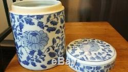 ANTIQUE 1800's Chinese Porcelain 8 Apothecary JAR Tea CADDIE URN Canister