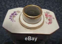 Achille Bloch Paris France Porcelain Tea Caddy H. P, Romance & Garden Scenes Vtg