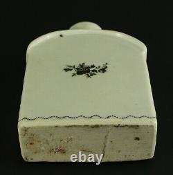 = Antique 1735-1796 QIANLONG Qing Chinese Fine Porcelain Tea Caddy Black Flower