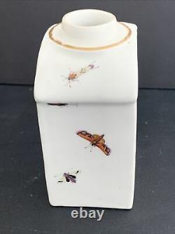 Antique 18th Century Meissen Porcelain Tea Caddy 3.75