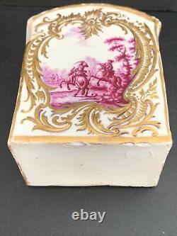 Antique 18th Century Meissen Porcelain Tea Caddy 5