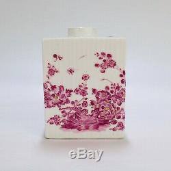 Antique 18th century Meissen Porcelain Purple Indian Tea Caddy PC IDC