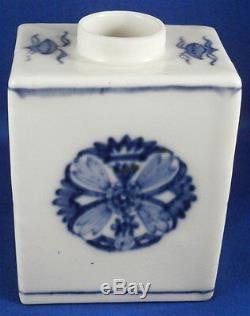 Antique 18thC Meissen Porcelain Tea Caddy / Jar Porzellan Teedose Asian Design