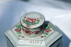 Antique Chinese Porcelain Tea Caddy Republic Era