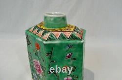 Antique Chinese Porcelain Tea Caddy Republic Period Ex Cond