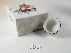 Antique Chinese or English Porcelain Tea Caddy Deutsche Blumen 18th / 19th C