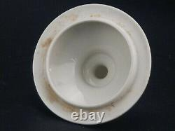 Antique French Porcelain Swan small Apothecary Jar Signed Rovina J. S Epinal