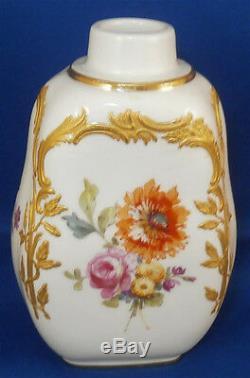 Antique KPM Berlin Porcelain Neuzierat Tea Caddy / Jar Porzellan Teedose Dose