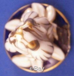 Antique KPM Berlin Scenic Porcelain Egg Tea Caddy Jar Porzellan Teedose Vase