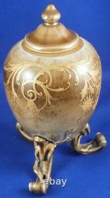 Antique KPM Berlin Seger Glaze Porcelain Tea Caddy Jar Porzellan Tee Dose Vase