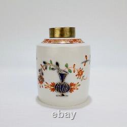 Antique Meissen Porcelain Tischchen Muster Tea Caddy 18C 19 C Teedose PC
