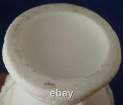 Antique Unknown Parian Porcelain Relief Scene Vase Jar Tea Caddy Porzellan