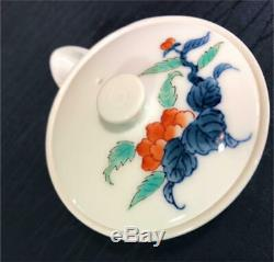 Arita Porcelain Wanwan Taoyuan Iwa-Peony Gyokuro Tea Set