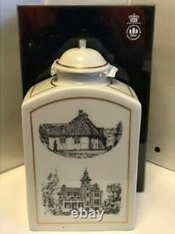 B&G Copenhagen Porcelain Hans Christian Andersen 4546/650 Tea Caddy 7.7Tall. D2