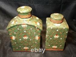 Beautiful Pair of Antique Asian Porcelain Tea Caddie's in Excellent Condition