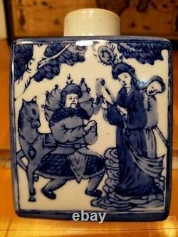 Blue Underglaze Porcelain Tea Caddy