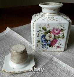 Boîte à Thé Porcelaine de Bruxelles 19ème 19th C Brussels Porcelain Tea Caddy