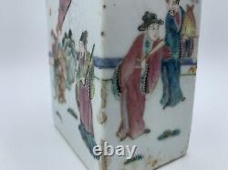 CHINESE Famille Rose Porcelain TEA CADDY 19thC early