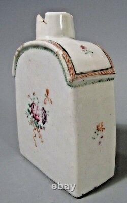 China Chinese Polychrome Porcelain Floral Decor Tea Caddie Qianlong ca. 18th c