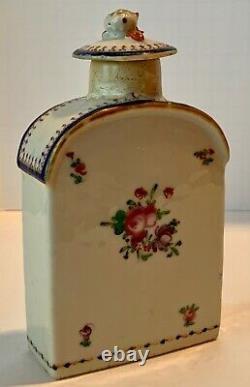 Chinese Export Famille Rose Tea Caddy with Lid Strong Provenance c. 1780