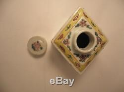 Chinese Porcelain Tea Caddy 20th C