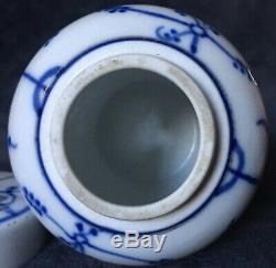 Early 19th Century Royal Tettau Germany Straw Flower Porcelain Tea Caddy & Stand