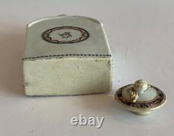 Early Chinese Export Porcelain Lid Tea Caddy Lid Qianlong Period 18th Century