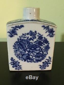 Excellent Condition Fine Chinese 18th Century Porcelain Tea Caddy Qianlong Blue