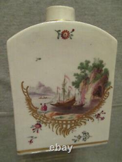 Frankenthal Porcelain, Porzellan Teedose Scenic Tea Caddy, 1770