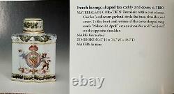 French Samson Armorial Horatio Nelson San Josef Tea Caddy with Cover c. 1880