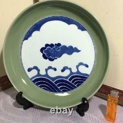 Genemon Arita porcelain Celadon Large bowl plate