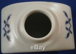 Great Meissen Porcelain Blue Onion Tea Caddy Jar Porzellan Zwiebelmuster Teedose