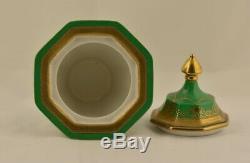 Japan, antique gilt porcelain tea caddy by Noritake